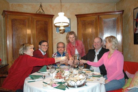 Christine und Hans Dill, Karl & Regina Mayerhofer, Wolfgang Schüller mit seiner Olga