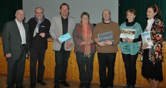 Fritz Ucik, Karl J. Mayerhofer, glückliche Gewinner, Fritz Weinauer, Evelyn Korrak,