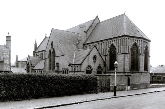 Photograph taken from Park Road with Musgrave Road on the right of the church courtesy of Ted Rudge. See his website Winson Green to Brookfields - http://www.ted.rudge.btinternet.co.uk.