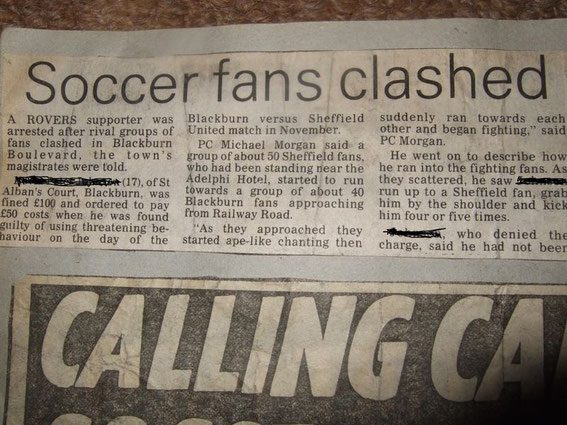T Shirt Blackburn Rovers Football Casuals BRFC Away days 80s FC Top Hooligan