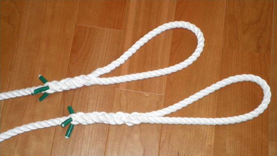 【私が編み込んだ アイ スプライスです。もやいロープやアンカロープに使用します。】