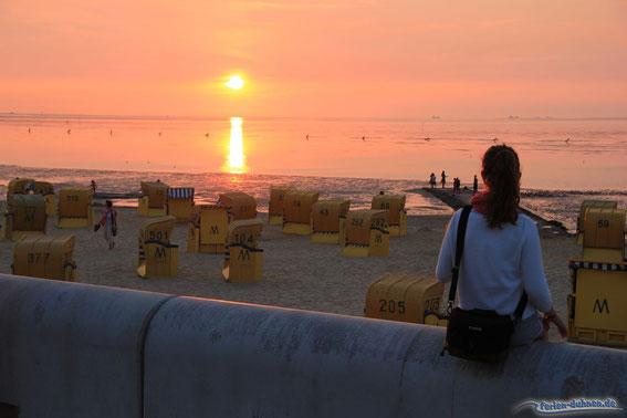 Sonnenuntergang Strand Cuxhaven Duhnen
