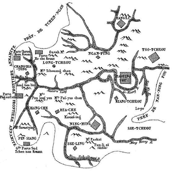 Carte 5, in Gabriel Devéria (1844-1899). La frontière sino-annamite. Ernest Leroux, Paris, 1886.