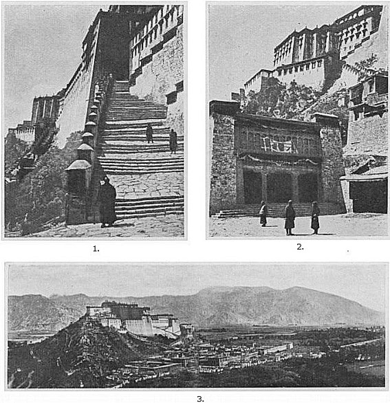 Le Potala. Pierre ROUSSEAU (1889-1939) : L'art du Tibet. La peinture. L'architecture. — Revue des Arts Asiatiques, Vol. 4, No. 1 (mars 1927), pp. 21-39, et Vol. 4, No. 2 (juin 1927), pp. 83-97.