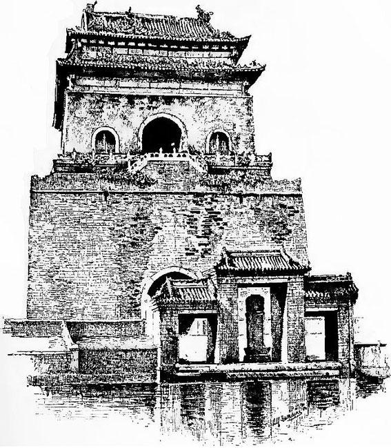 Porte des remparts de Pékin. — Maurice Paléologue  (1859-1944) : L'art chinois — Alcide Picard, éditeur, Paris, 1910, 320 pages. Première édition : Maison Quantin, Paris, 1887.