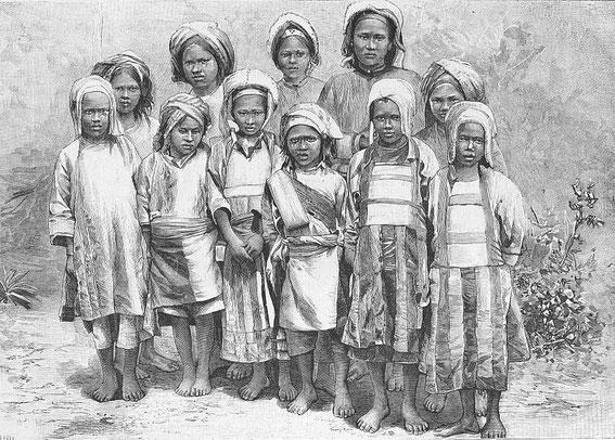 Chrétiennes gni. Paul VIAL (1855-1917) : Les Gni ou Gni-Pa, tribu lolote du Yun-nan. Les Missions catholiques, Lyon, tome XXV, 1893; tome XXVI, 1894.