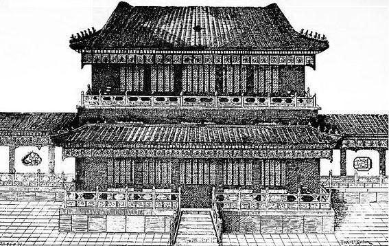 Pavillon à deux étages. Maurice Paléologue  (1859-1944) : L'art chinois — Alcide Picard, éditeur, Paris, 1910, 320 pages. Première édition : Maison Quantin, Paris, 1887.