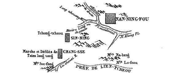 Carte 9, in Gabriel Devéria (1844-1899). La frontière sino-annamite. Ernest Leroux, Paris, 1886.