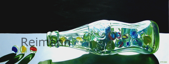 "Ölgemälde ""Glas"",  30x80cm , Privatbesitz"