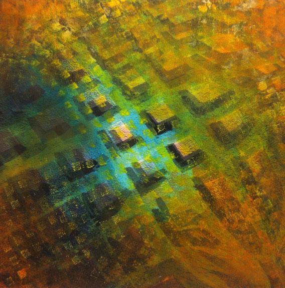 Tecnica mista: digitale, olio e pastello su cartoncino - cm. 30x30