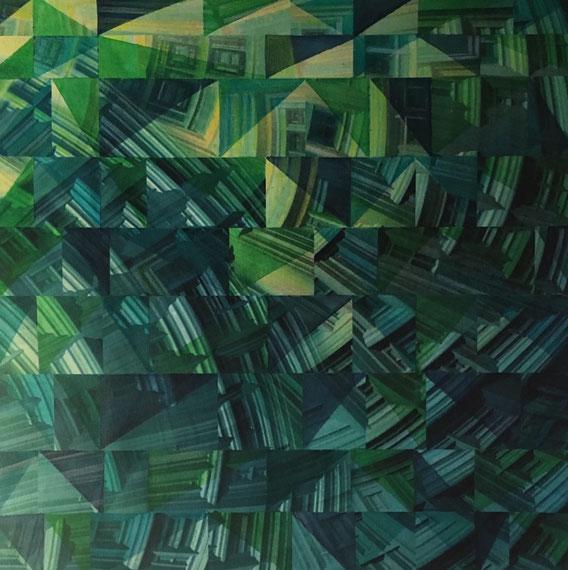 Tecnica mista: digitale, acquerello, olio su cartoncino - cm. 27x27
