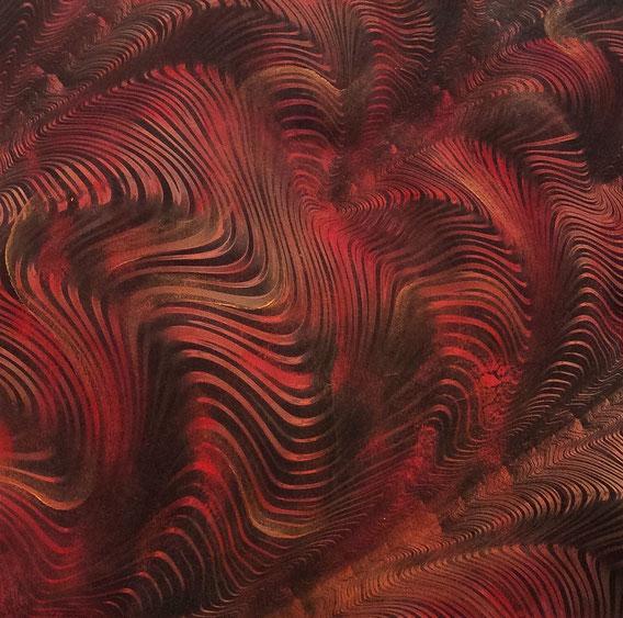 Tecnica mista: digitale, olio e pastello su cartoncino - cm. 28x28