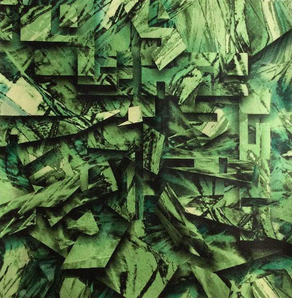 Tecnica mista: digitale, acquerello, pastello su cartoncino - cm. 29x29