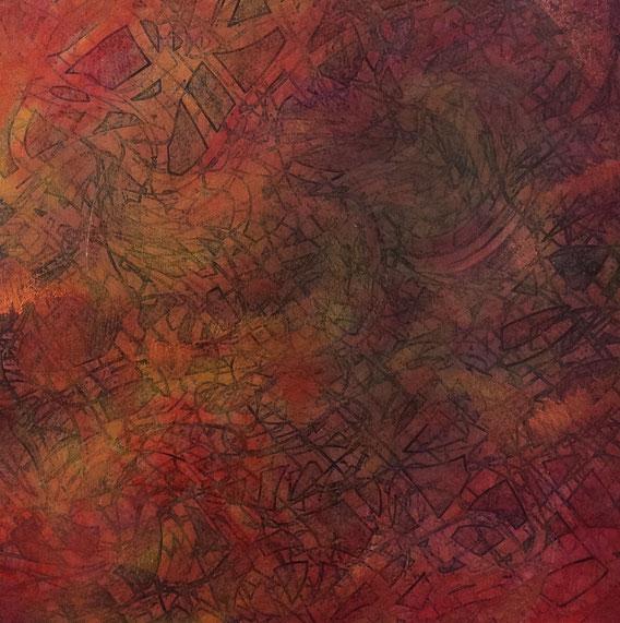 Tecnica mista: digitale, olio e pastello su cartoncino - cm.30x30