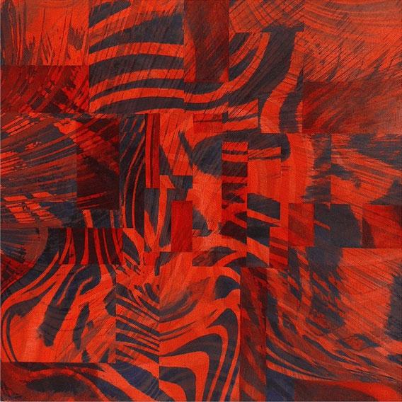 Tecnica mista: digitale, acquerello, olio su cartoncino - cm. 30x30
