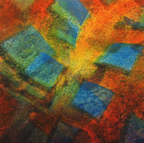 Tecnica mista: digitale, acquerello, pastello su cartoncino - cm. 30x30