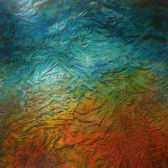 Tecnica mista: digitale, olio e pastello su cartoncino - cm. 29x29
