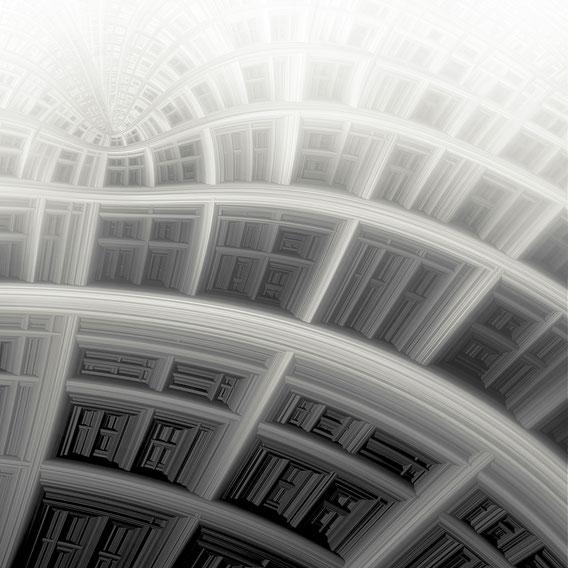 Tecnica: digitale su cartoncino (elaborazione di studio frattale) cm. 32x32
