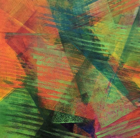 Tecnica mista: digitale, acquerello e pastello ad olio - cm. 32x32