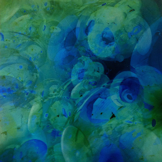Tecnica mista: digitale, olio su cartoncino - cm. 27x27