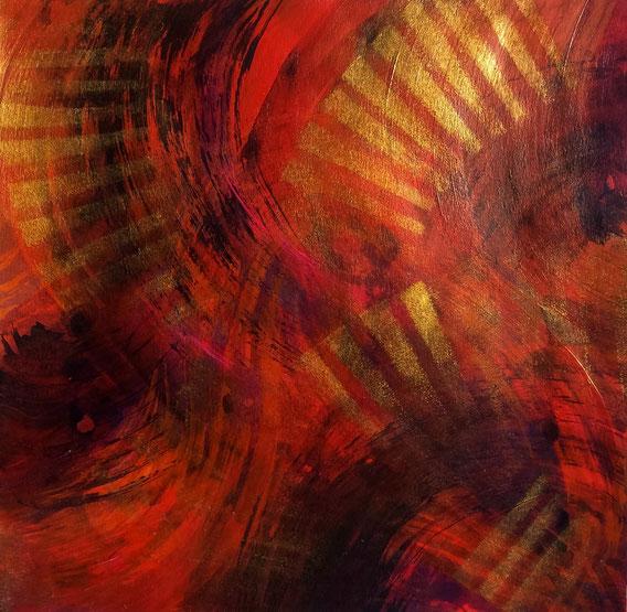 Tecnica mista: digitale, olio, acrilico su cartoncino - cm. 28x28