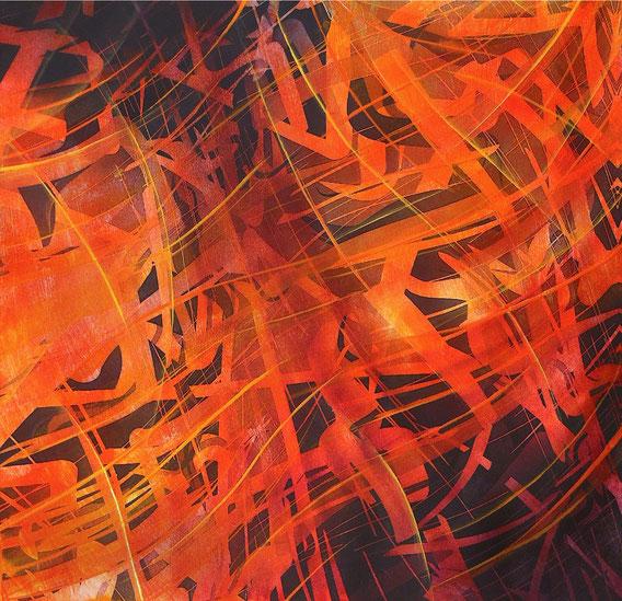 Tecnica mista: digitale, olio su cartoncino - cm. 29x29