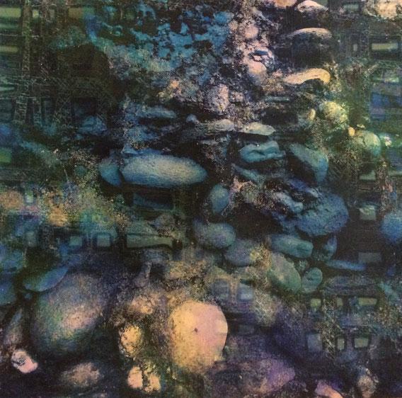 Tecnica mista: digitale, materiale acrilico, olio - cm. 32x32