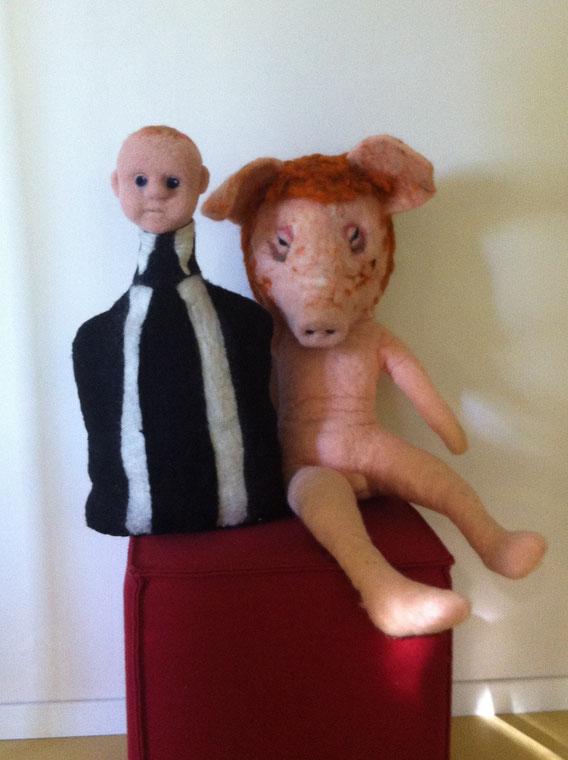 """zwei Puppen """"Ich und Ich"""""""