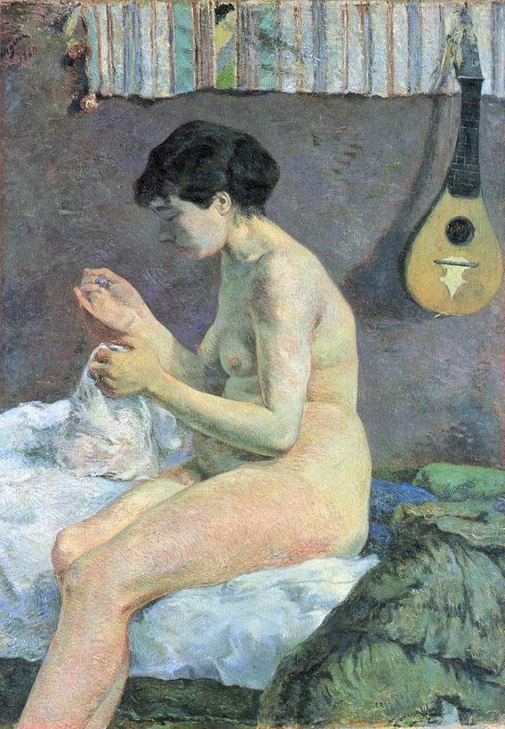 ポール・ゴーギャン「ヌードの習作」(1880年)