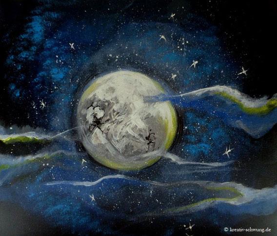 Der Mond Acryl 2018