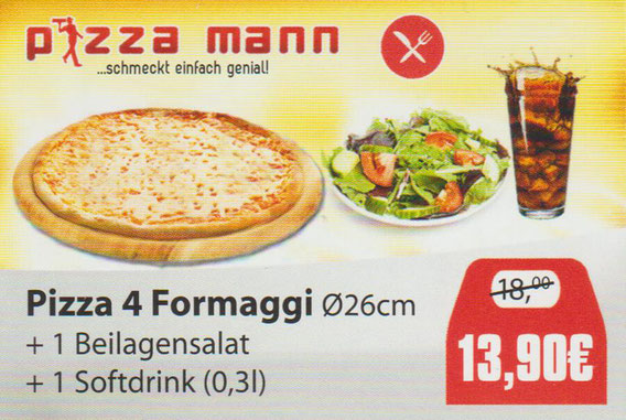 Aktion Pizza 4 Formaggi