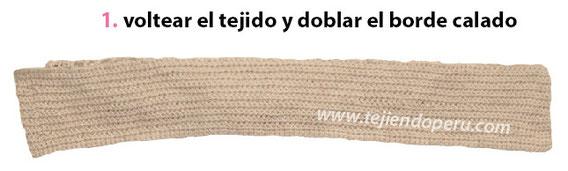 Cuello con doblez tejido a crochet / Crochet folded neck warmer