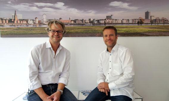 Geschäftsführer Jan Klüssendorff und Mitarbeiter Ralf Schneider