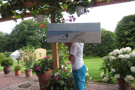 """""""Borkum"""",  Öl  auf Leinwand, 30x90 cm, verkauft"""