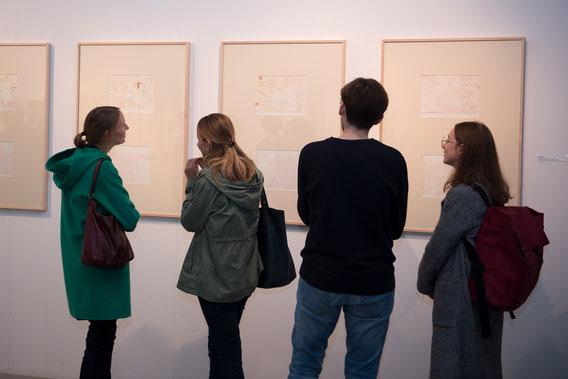 """""""Transferdruck und Radierung mit Stickerei, Cindy Leitner"""
