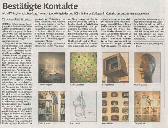 Dolomiten, Südtiroler Tageszeitung, Artikel, 2016