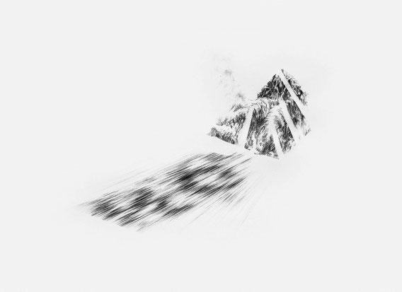 Sans Titre, Mine de plomb sur papier, 30x40 cm, 2018