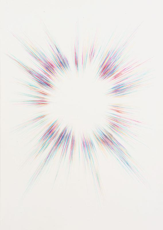Boom #892, Crayon de couleur et acrylique, 70x50 cm, 2015
