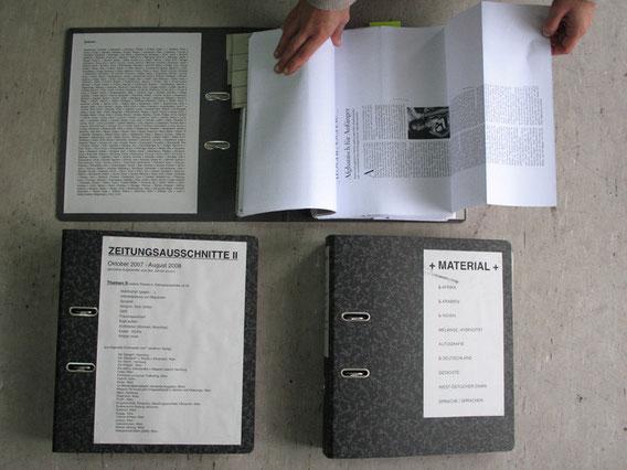 Die Sammlung ZEITUNGSAUSSCHNITTE & MATERIAL, Luitgard Eisenmeier