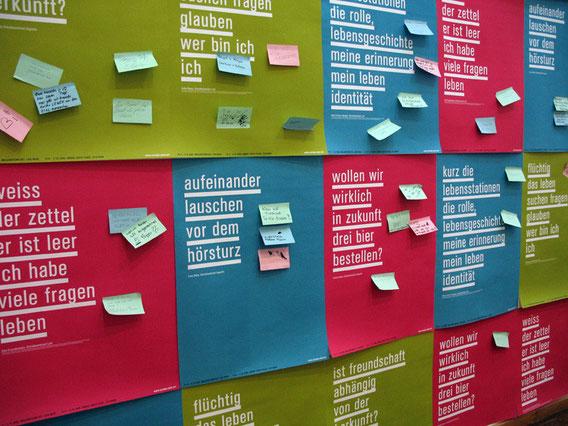 POST IT! Ausstellung über die Enstehung der Poster-Serie in Zusammenarbeit mit LEFÖ und AUGUSTIN, Hauptbücherei Wien