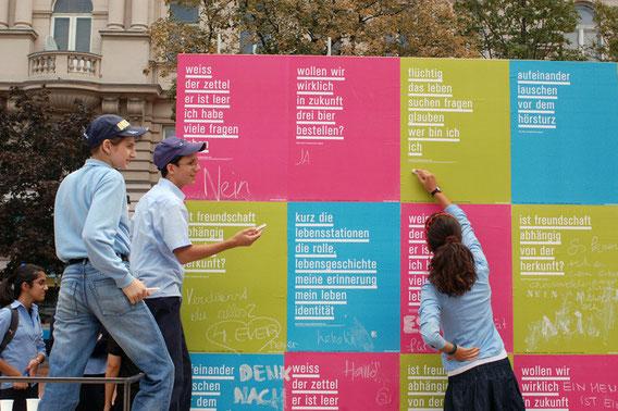 Schulaktion, Plakatwandprojekt, CHABAT SCHULE