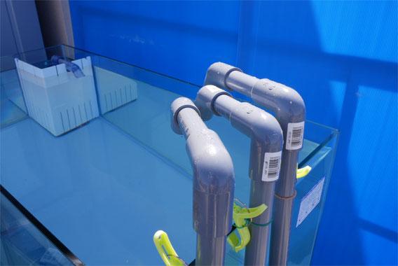 水槽 塩ビ配管 オーバーフロー水槽 水中ポンプ DCポンプ