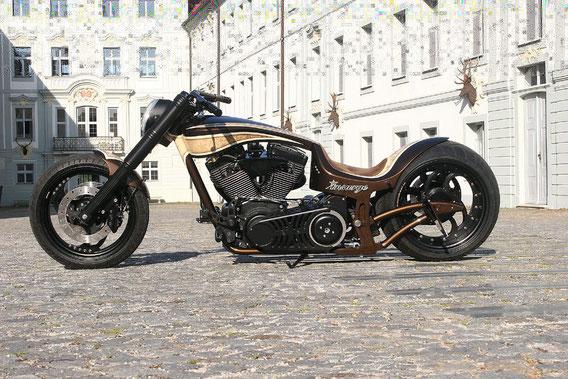 MS StreetParts Dragstyle Hardcore Walz Harley Davidson Custom Bike Umbau Insurge