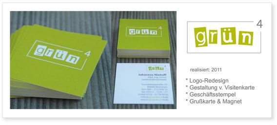 grünhoch4 - Logo & Visitenkarte