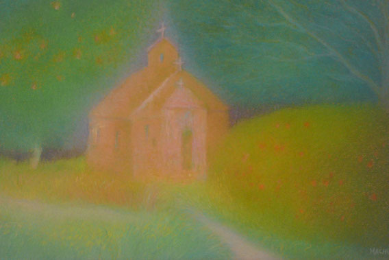 A little church in the woods 42.5cmx52.5cm