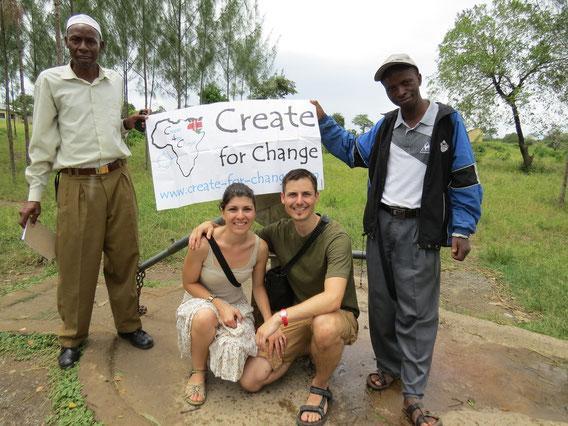 De gauche à droite : Bakari, Samanta, Bastien, Jackson