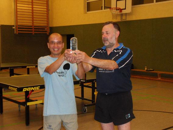 Das Sieger Spaß-Doppel 2015 Tien und Andreas