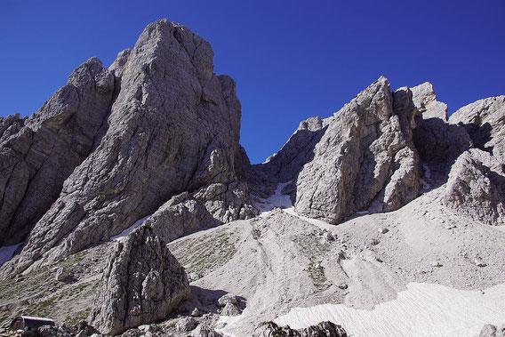 Das Kar Richtung Forcella del Vallone