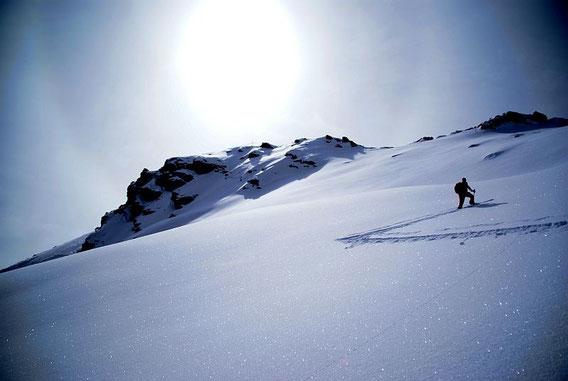 In der Gipfelflanke; 2.4.2010