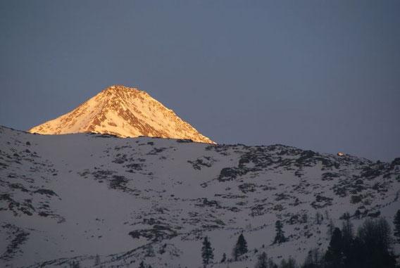 Der Findelkarkopf im Morgenlicht
